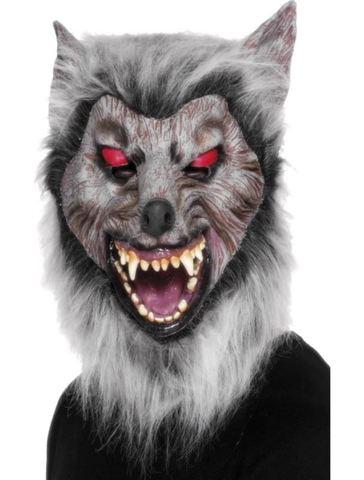 Accessorio halloween maschera lupo mannaro