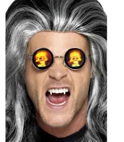 Accessorio halloween occhiali con teschio olografico