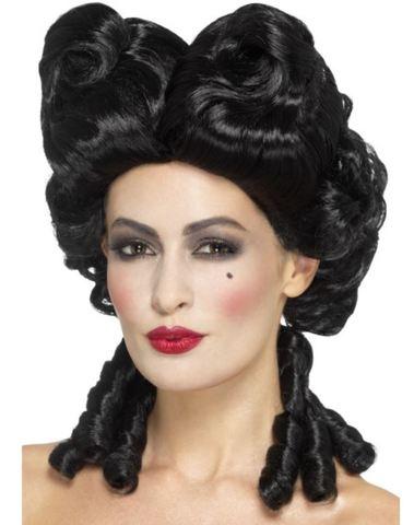 Accessorio halloween parrucca gotica nera