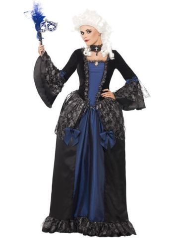 Costume Halloween Dama Barocca
