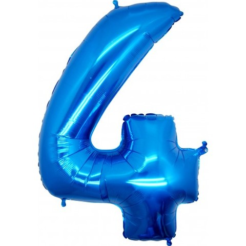 Palloncino a forma di numero 4 blu
