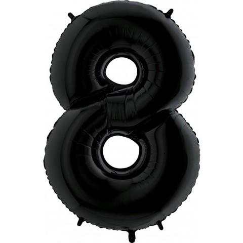 Pallonicno a forma di numero 8 nero