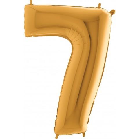 Palloncino a forma di numero 7 color oro