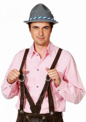 Camicia bavarese a quadretti rosa