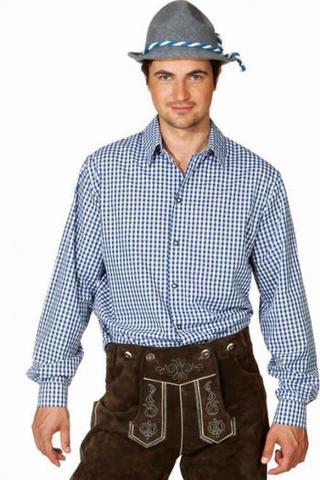 Camicia bavarese a quadretti blu
