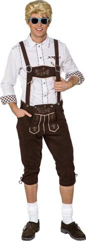 Pantaloni lederhosen bavaresi da uomo