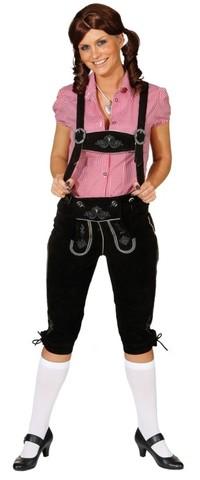 Pantaloni lederhosen bavaresi da donna