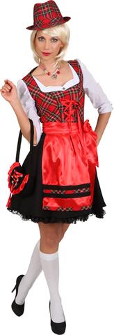 Vestito bavarese a quadretti rosso