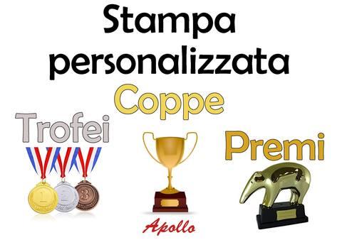 Stampa personalizzata di coppe medaglie e trofei
