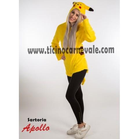 Costume di carnevale di pikachu a pantaloncino