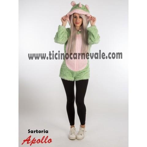 Costume di carnevale da unicorno verde a pantaloncino
