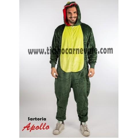 Costume di carnevale da coccodrillo a tuta
