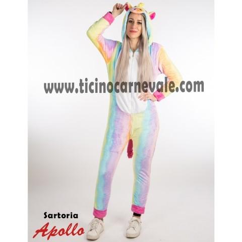 Costume di carnevale da unicorno a tuta