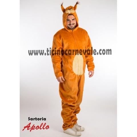 Costume di carnevale da scoiattolo a tuta
