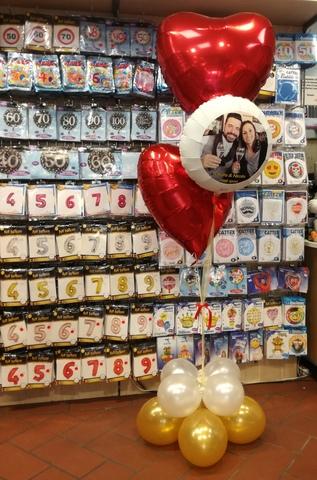Composizioni di palloncini con stampa foto personalizzata