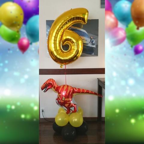 Composizioni di palloncini tematiche dinosauri