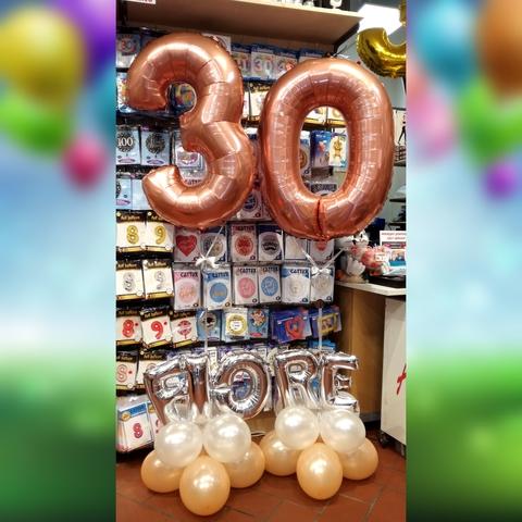 Decorazioni Di Palloncini Per Compleanno 30 Anni