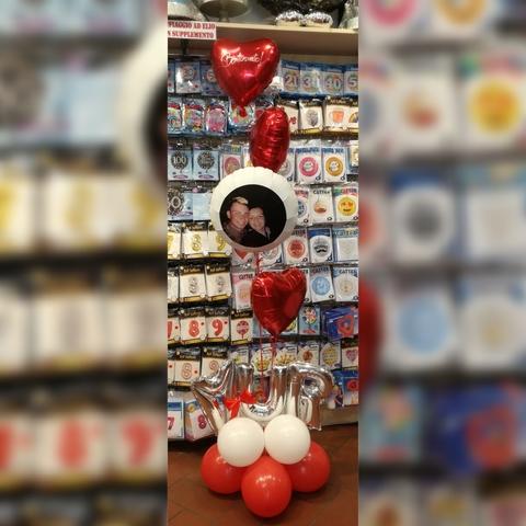 Composizione di palloncini di benvenuto