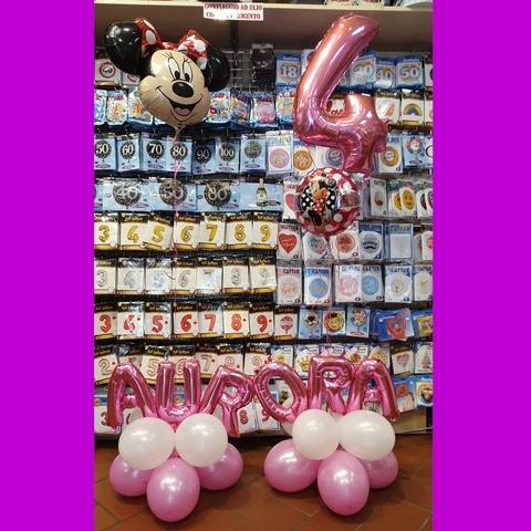 Decorazione di palloncini per bambina tema minnie