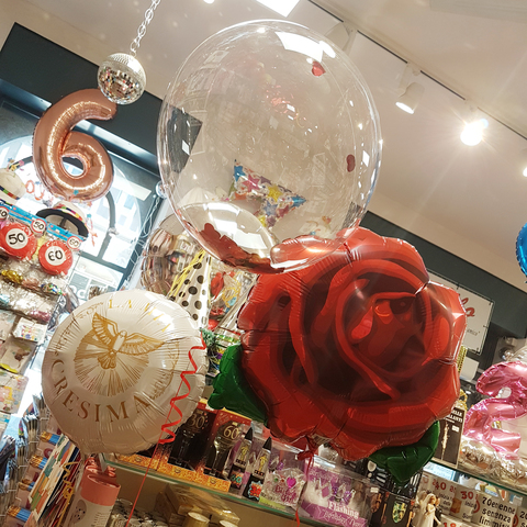 Composizione di palloncini a bolla bubble trasparenti