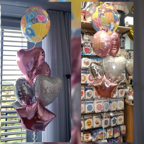 Decorazione di palloncini per nascita