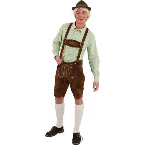 Pantaloni In Pelle Lederhosen Bavaresi Per Uomo