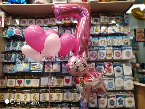 Decorazione Di Palloncini Per Bambina 7 Anni Tema Gatti