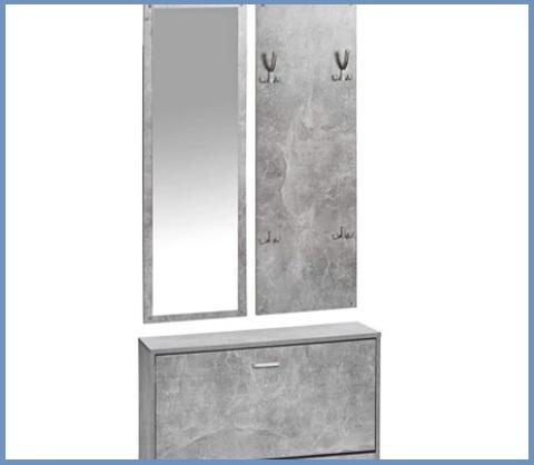 Mobile ingresso appendiabiti grigio