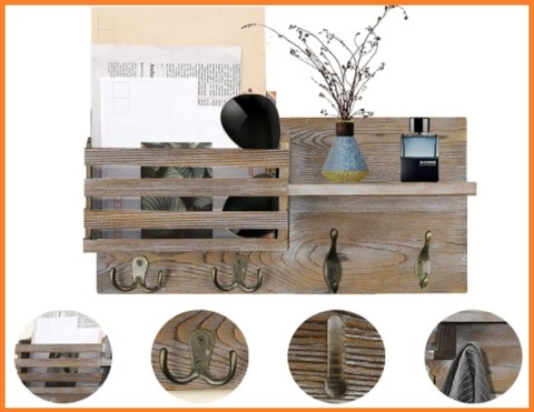Appendiabiti in legno ingresso