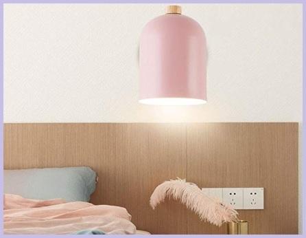 Lampada rosa applique