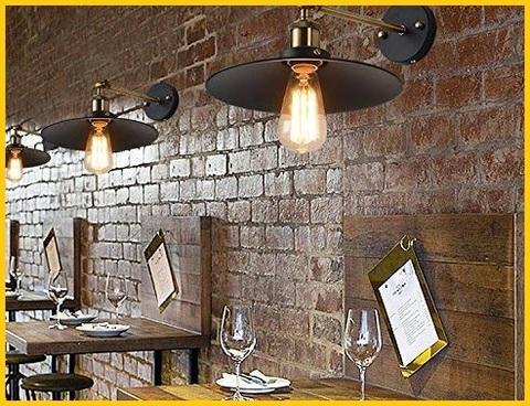 Lampada vintage applique