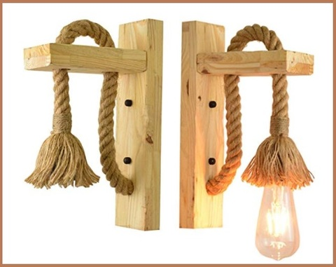 Applique comodino legno