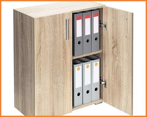 Armadio ufficio in legno con chiave