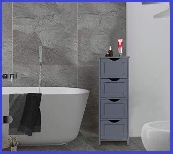 Mobiletto bagno salvaspazio legno
