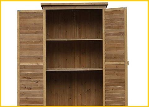 Armadio ripiani legno