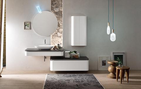 Bagno moderno dal design contemporaneo e con mobile sospeso