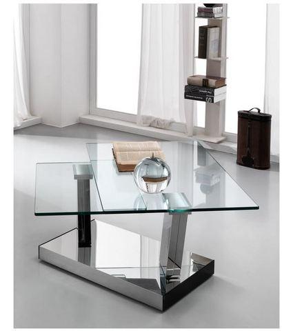 Tavolino per salotto in vetro azienda stones