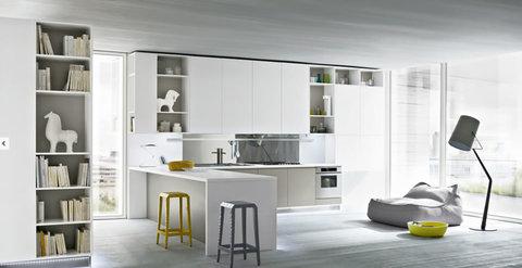 Cucine moderne anta liscia colore bianco
