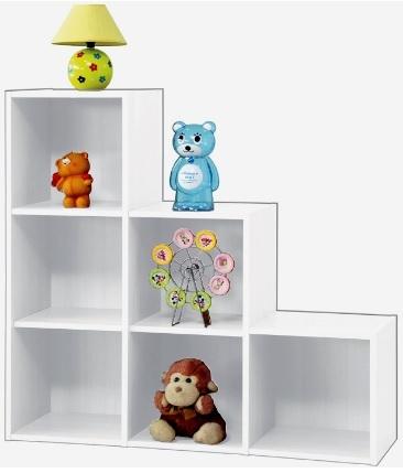 Scaffale libreria cubico per bambini grandi sconti for Grandi bambini giocano a casa