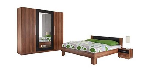 Camera da letto in legno di noce completa