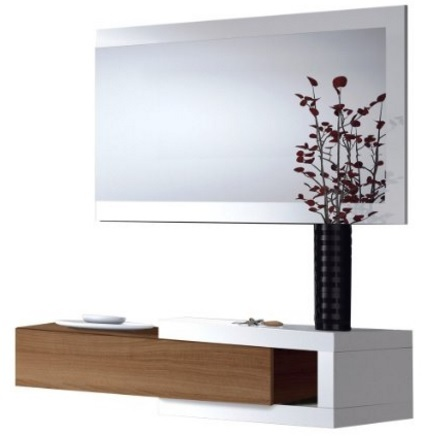 Parete attrezzata con specchio per l 39 ingresso moderno grandi sconti arredare casa - Parete a specchio per ingresso ...