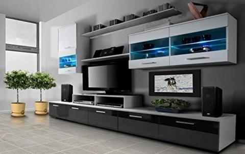 Mobile per il soggiorno moderno e bicolore