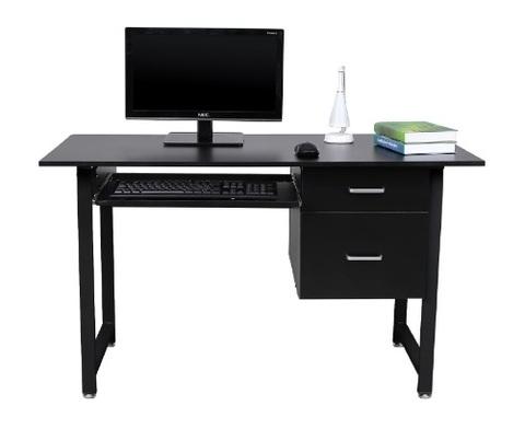 Scrivania nera per ufficio computer desk