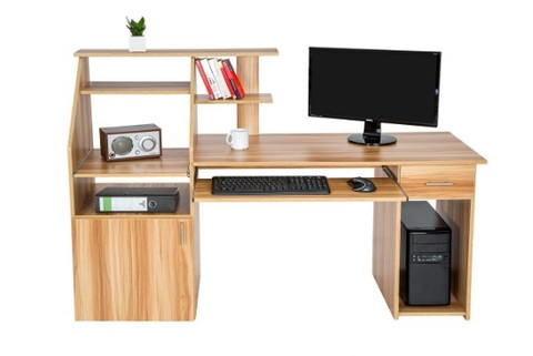 Scrivania Con Computer Desk E Porta Pc Con Vari Ripiani