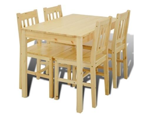 Tavolo in legno di pino con 4 sedie