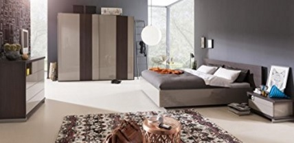 Camera da letto completa e in rovere nobile in grigio