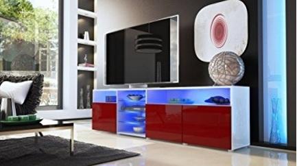 Credenza mobile moderno dal colore rosso lucido
