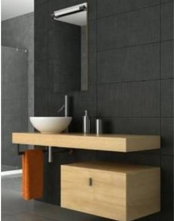 Mobili sospesi in stile minimalista per il bagno