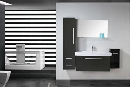 Mobili bagno sospesi moderni dal colore nero