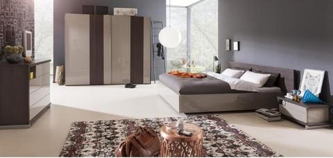 Camera da letto in rovere componibile e moderna